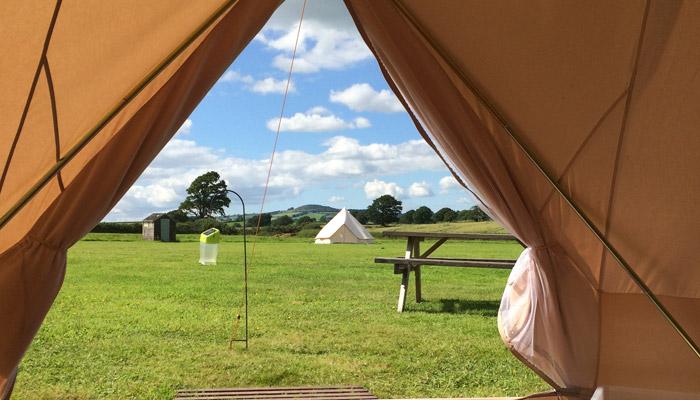 Old Bidlake Bell Tent Camping Dorset Campsite Field