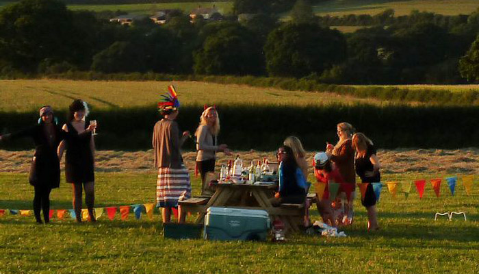 Old Bidlake Farm Exclusive Hire Campsite Dorset Hen Party