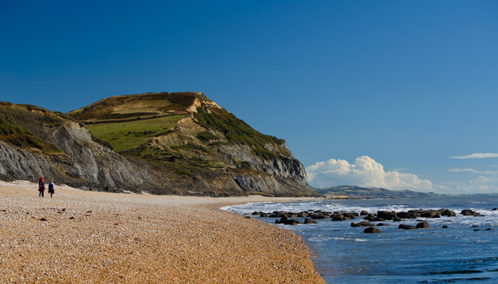 Golden Cap from Charmouth Old Bidlake Farm Dorset