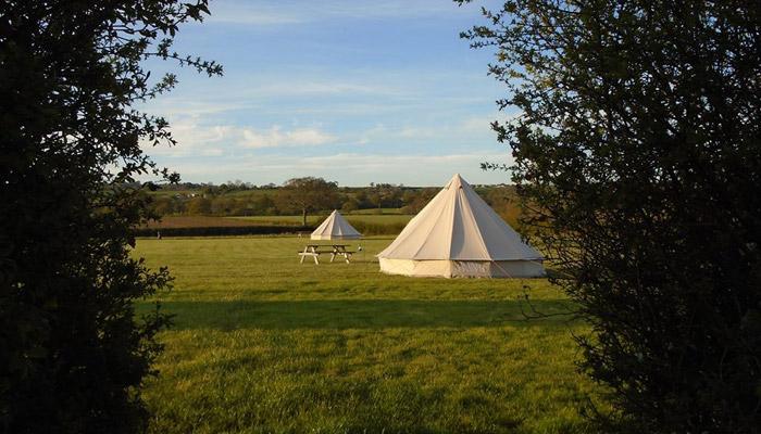 Old Bidlake Farm Camping Bridport Dorset Bell Tents