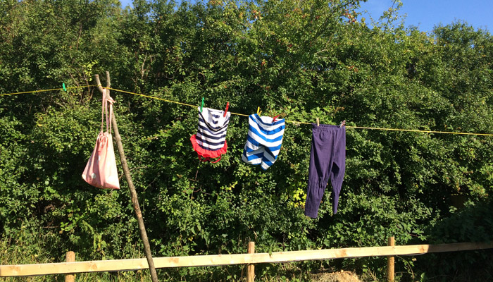 Old Bidlake Farm Camping Bridport Dorset Peaches The Washing Line