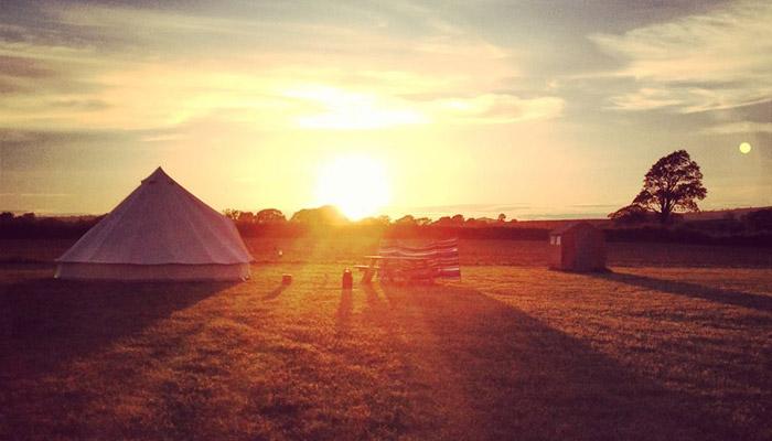Old Bidlake Farm Camping Dorset Sunset
