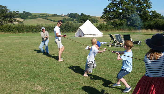 Old Bidlake Farm Exclusive Hire Campsite Dorset Tug of War