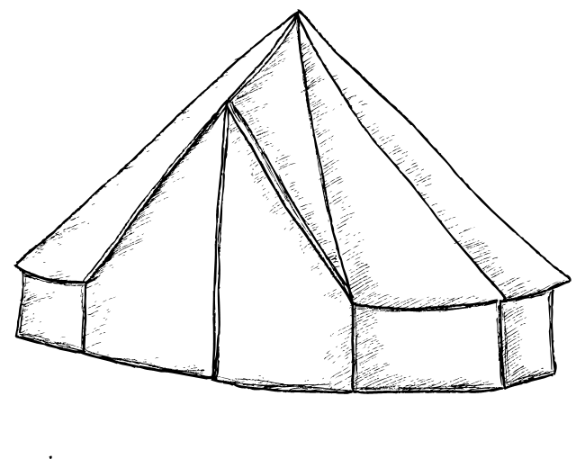 Bell Tents at Old Bidlake Farm in Dorset