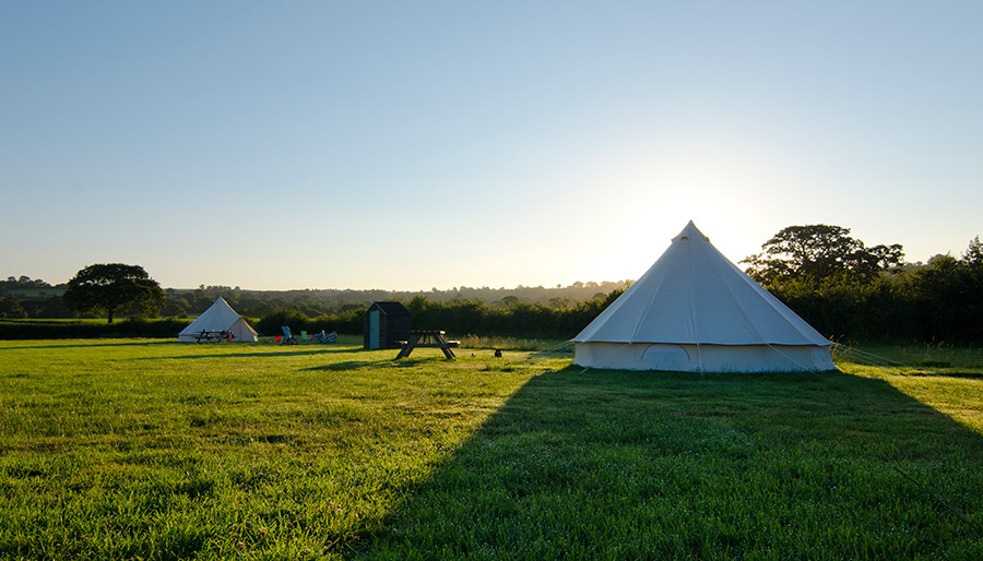 Old Bidlake Bell Tent Camping Dorset Campsite Bell Tents - Cycling