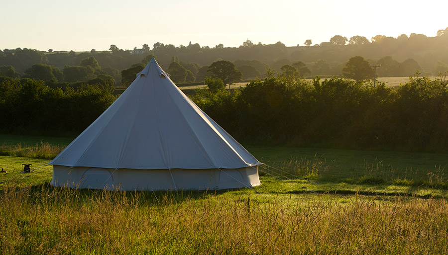 Bell Tents at Old Bidlake Farm Bridport Dorset