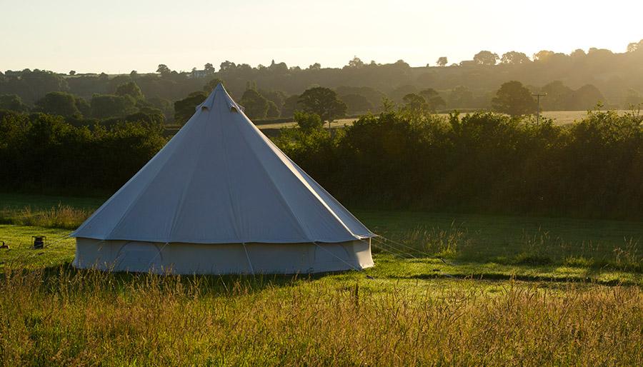 Bell Tents at Old Bidlake Farm Bridport Dorset