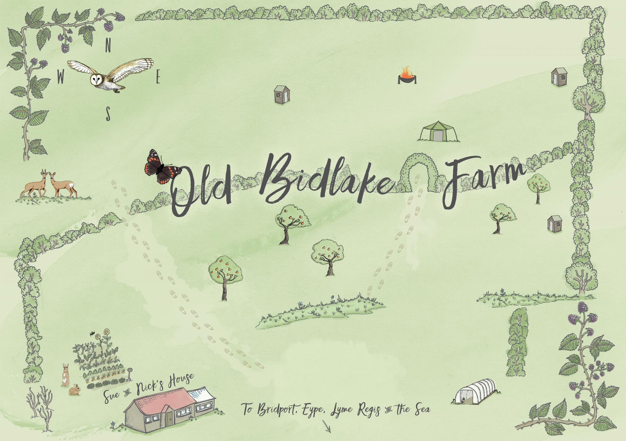 Old Bidlake Farm Interactive Campsite Map